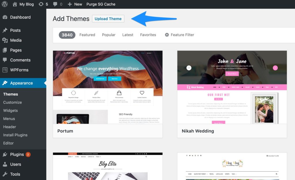 Choose Premium WordPress Theme for New WordPress Blog