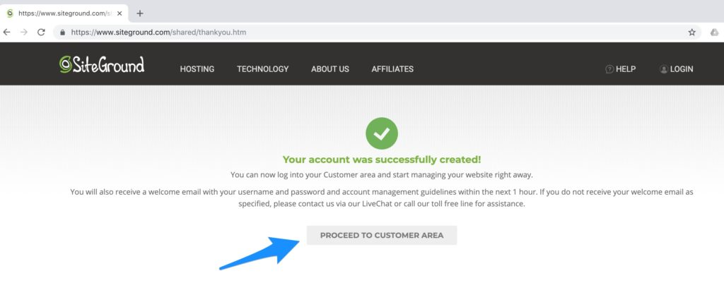 Create Hosting Account - How to Start a New Blog Step by Step