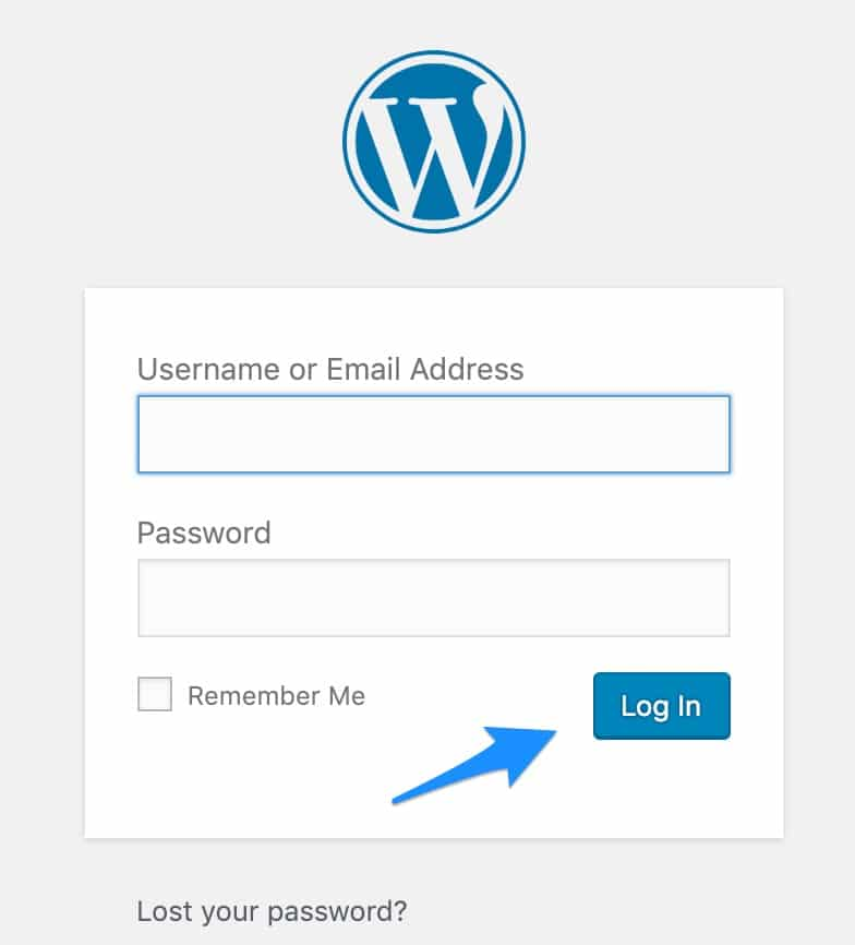 How to Login to WordPress Admin Area - Start A New WordPress Blog