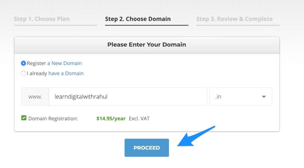 Register Domain Name - How to Create A WordPress Blog Step by Step