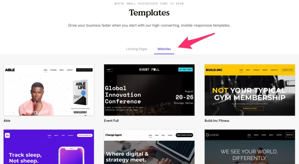 Highest Converting Landing Pages Website Temaplate by LeadPages Sites Builder