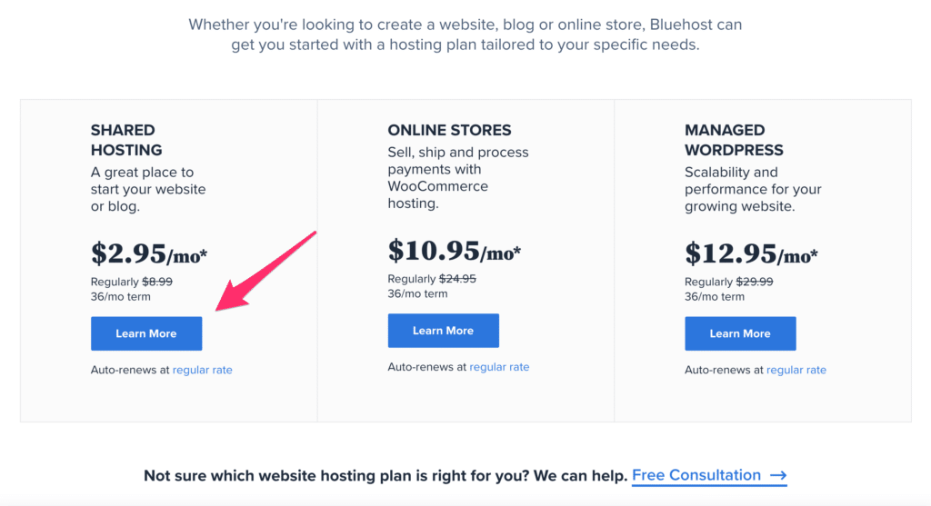 Bluehost Pricing - Bluehost Hosting Cost for Starting A WordPress Blog Step by Step