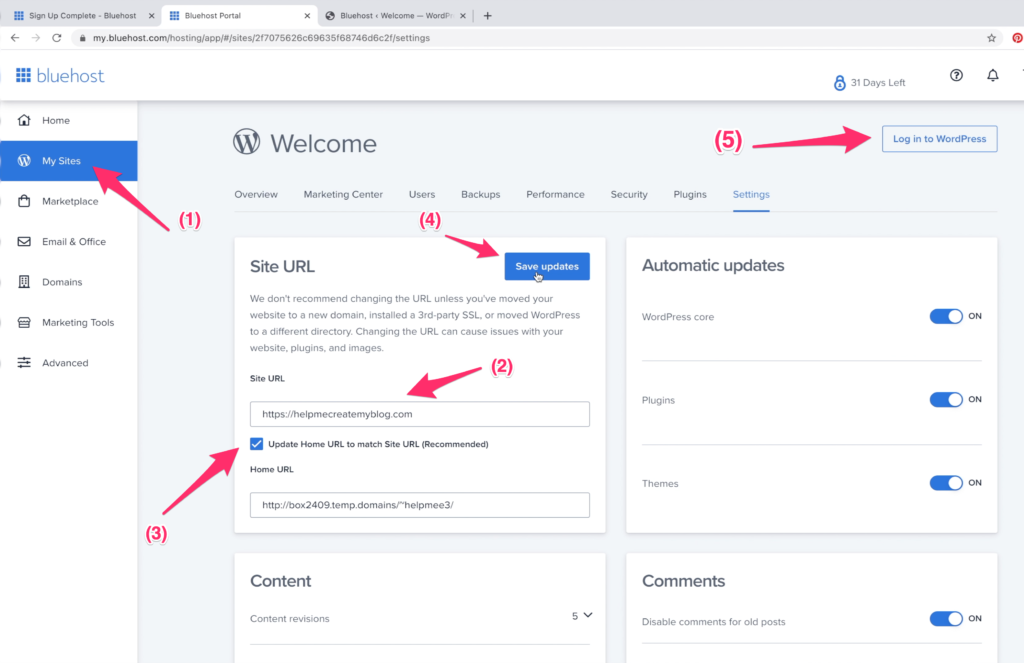 Change Site URL on WordPress - Start WordPress Blog