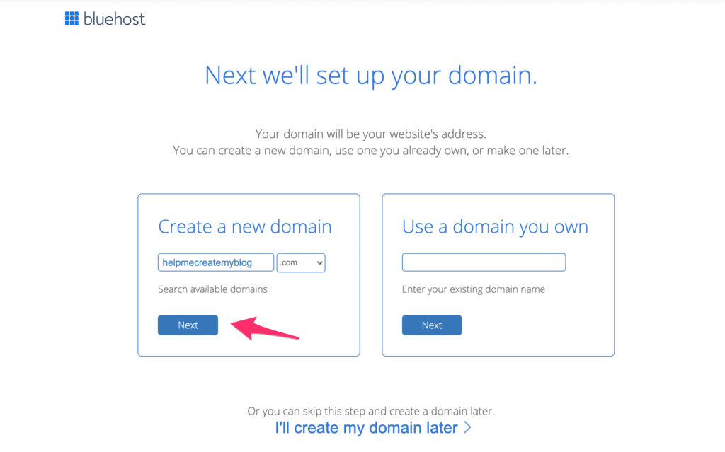 Choose Domain Name for WordPress Blog - Create WordPress Website
