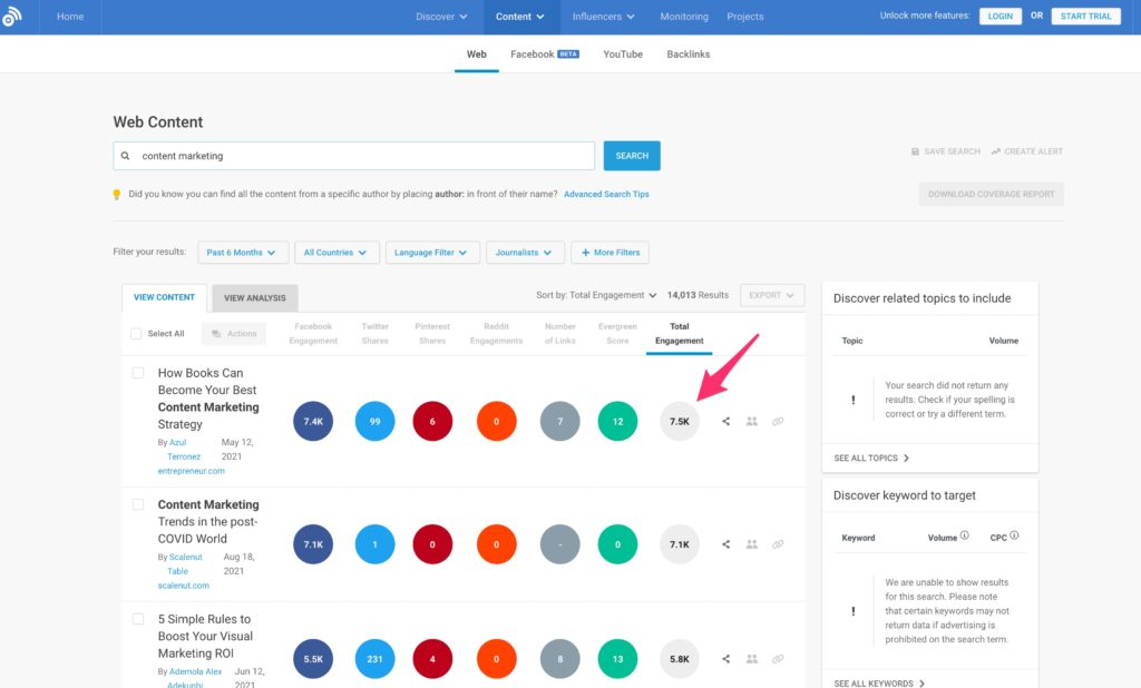 Get Viral Blog Post Ideas for Your Nex Blog Post Using Buzzsumo