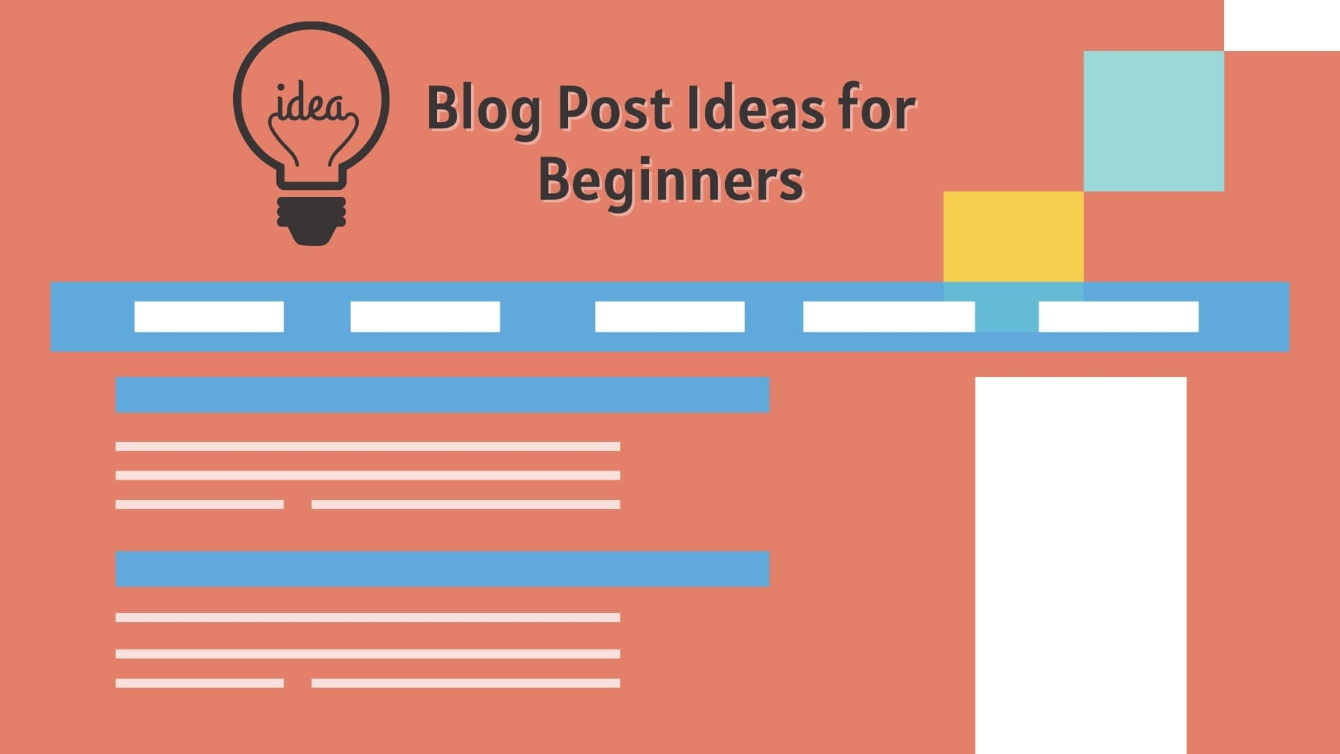 Blog Post Ideas for Beginners - Find Blog Post Ideas and Topic to Write About